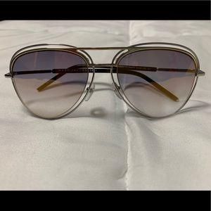 MarcJacobs MARC Palladium/Gold Aviator Sunglasses